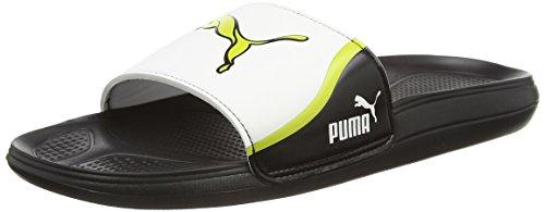 Puma Cat Slide TS - Chanclas de material sintético hombre Negro (black-white-sulphur spring 05)