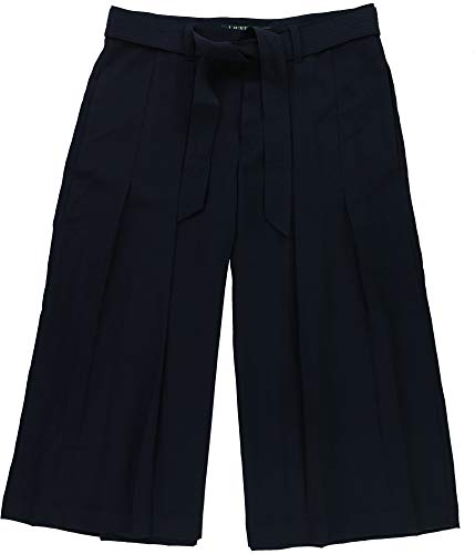 Ralph Lauren Womens Wide-Leg Culotte Pants, Blue, 10P