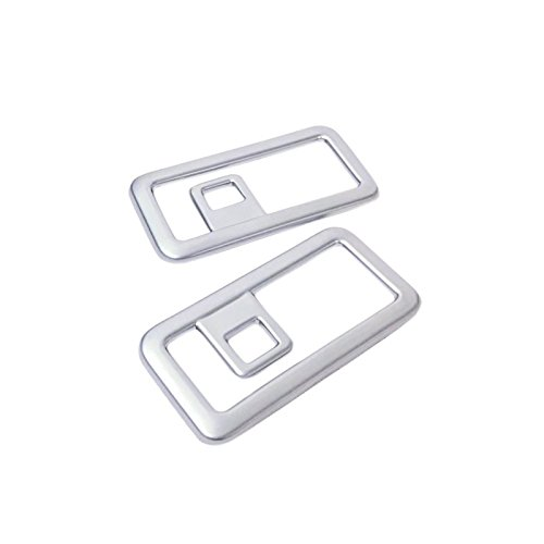 ABS MATTE Interior Accessories Rear BACK Car Boot Cargo Buckle Frame Cover Trim 2PCS For Jaguar F-Pace X761 2016-2018 by ITrims