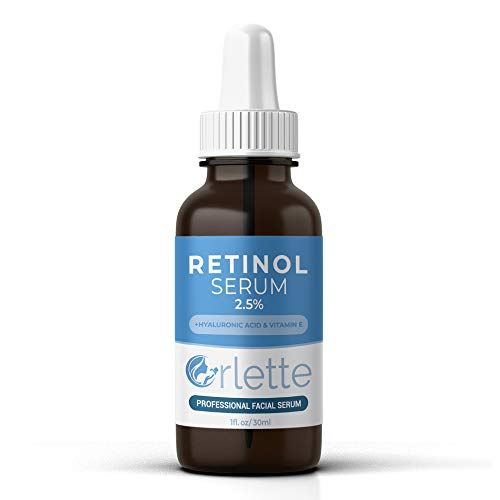 31vAitaYdrL - Orlette Retinol Serum 2.5% - Professional Grade Skincare - Vitamin A and E, Hyaluronic Acid - Anti-Aging, Hydrating Skin and Face Moisturizer - Wrinkle, Acne Spot, Pigmentation, Blemish Remover - 30ml