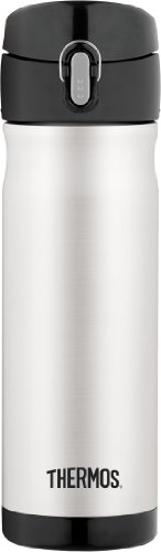 Thermos 16 Ounce Stainless Steel Commuter Bottle, Stainless (Nissan Thermos Mug)