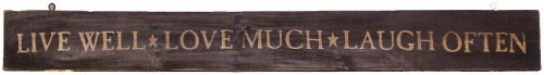 Haven 2066 Live Laugh Love, Rustic Wood Sign (Love Wood Live Sign Laugh)