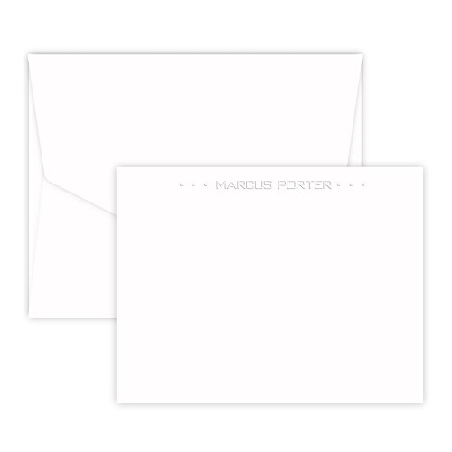 Boulevard Card - Embossed (White) - Embossed Graphics Stationery