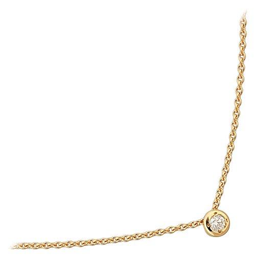 Orleo - REF10705BB : Collier Femme Or 18K jaune et Diamant - 0.04 carat