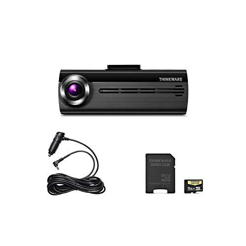 Thinkware F200 Full HD 1080P Dash Cam with Wide Dynamic Range, 16GB Micro SD Card Included, Built-in WiFi, Cigarette Power Cable