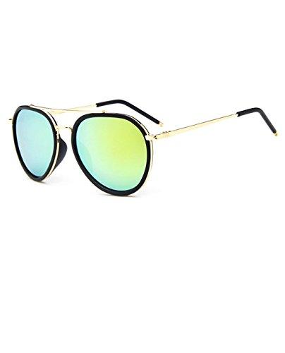 Aviator Flash Lens Sunglasses Retro Full Frame UV Protective,Konalla - Tortise Sunglasses Shell