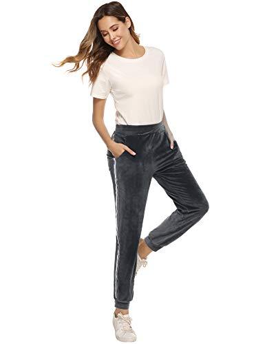 Hawiton Pantalones de Pijama para Mujer, de velvetón, a Rayas ...