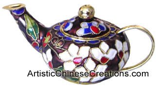 Chinese Art & Collectibles / Chinese Gifts / Chinese Cloisonne: Miniature Teapot