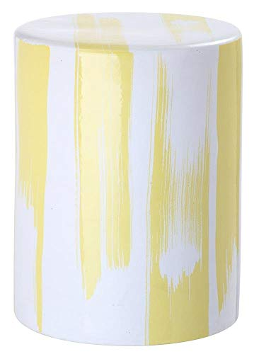 Safavieh Castle Gardens Collection Glazed Ceramic Yellow Talon Garden Stool