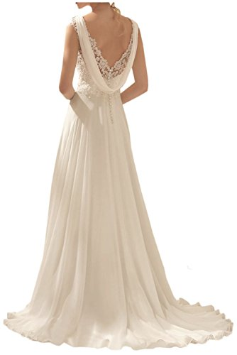 Abendkleider Damen Spitze Brautkleider Chiffon Rock Neu Lang Charmant Pink Hochzeitskleider Brautmode 2018 Weiss 8wddB