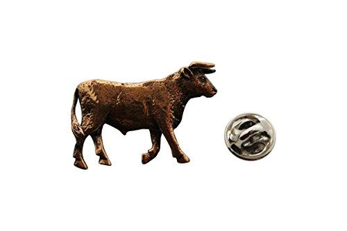 Broadhead Pin Bull (Bull Pin ~ Antiqued Copper ~ Lapel Pin ~ Sarah's Treats & Treasures)