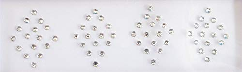 60 Crystals Stickers 2 mm Fake Nose Stud, Silver Fake Nose Stud, Self Adhesive Nose Stud, Costume Jewels Online