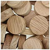 WIDGETCO 3/4'' Oak Wood Plugs, Face Grain