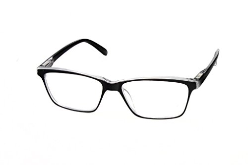 Clear Optix Crystal (Hot Optix Retro Readers Black/White/Clear Crystal +1.25)