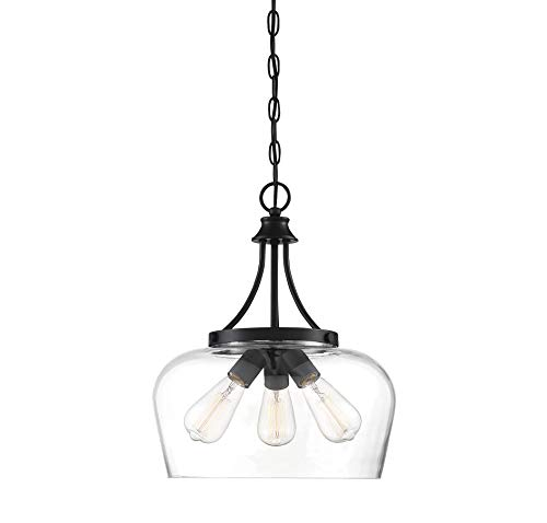 (Savoy House Octave 3-Light Pendant in Black)