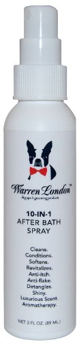 Warren London - 10-in-1 After Bath Spray and Leave-In Conditioner for Dogs and Cats, Removes and Prevents Tangles, Matts and Promotes a Shiny, Great Smelling Coat - 4 Fl. Oz