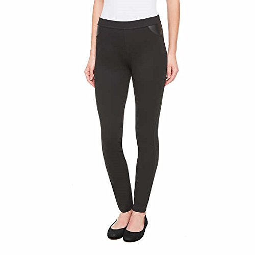 DKNY Ladies Pull-on Ponte Pant (Small, Black) (Dkny Womens Pants)