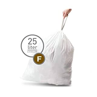 Simplehuman Bin Trash Can Bags Liners New 25l Litres Size F Box Pack of 20