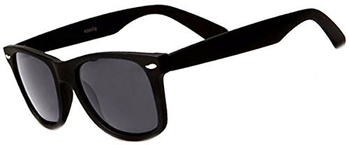Retro Rewind Polarized Sunglasses (Black Matte, Polarized) (Black Polarized Unisex Sunglasses)