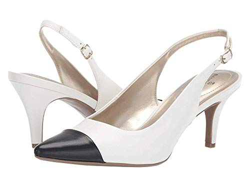 - Bandolino Womens Zipporah Slingback Pump Black/White 10 M