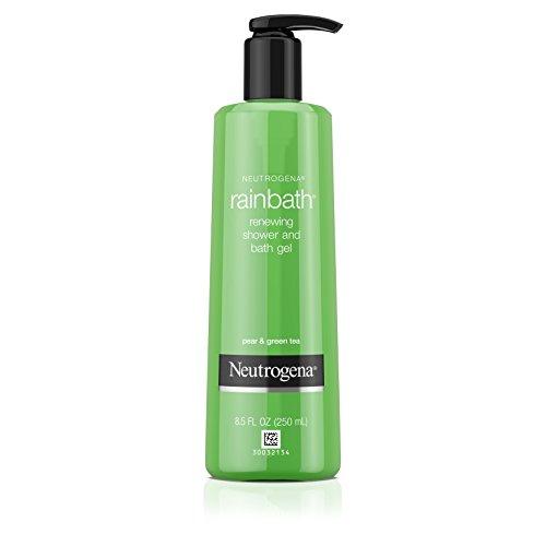 Neutrogena Rainbath Renewing Shower And Bath Gel, Moisturizing Body Wash and Shaving Gel with Clean Rinsing Lather, Pear & Green Tea Scent, 8.5 fl. oz