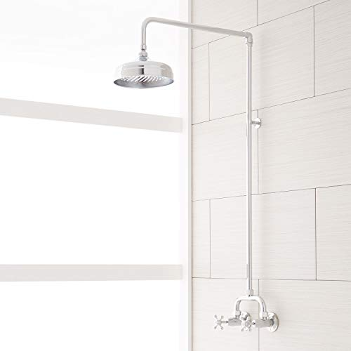 Signature Hardware 370006 Baudette Exposed Wall Mounted Shower with Rainfall Shower Head