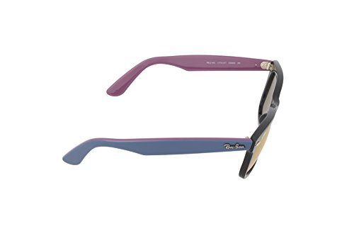 Ray-Ban - Lunette de soleil RB2140 Wayfarer Original Wayfarer 54 mm Black Green Mirror & Fucsia