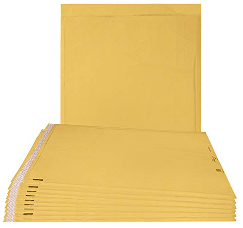 Airjackets Kraft padded envelopes 14x19 Bubble Mailers 14 x 19. Pack of 10 large bubble envelopes Peal and Seal. Yellow cushion envelopes. Shipping, mailing. Laminated golden kraft paper. Air jackets.