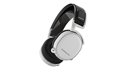 Speaker Video White Apple (SteelSeries Arctis 7 Lag-Free Wireless Gaming Headset with DTS Headphone:X 7.1 Surround for PC, PlayStation 4, VR, Mac and Wired for Nintendo Switch, Android and iOS - White)