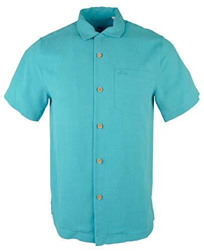 Tommy Bahama Mens Royal Bermuda Camp Shirt (S/P, Riviera Azure)