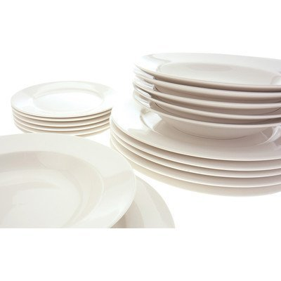 Maxwell and Williams Basics 18-Piece York Dinner Set White  sc 1 st  Amazon.com & Amazon.com | Maxwell and Williams Basics 18-Piece York Dinner Set ...