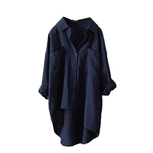 Cotone Militare Da top T Estive Casual In Donna Donna magliette Lunghe Sciolti shirt Marina Lunghi Zq6qz