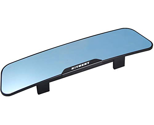 KITBEST Rear View Mirror, Anti Glare Rearview Mirror Interior Clip on Panoramic Car Convex Wide Angle Rear View Mirror to Reduce Blind Spot and Antiglare Effectively - Large Rear View Mirror