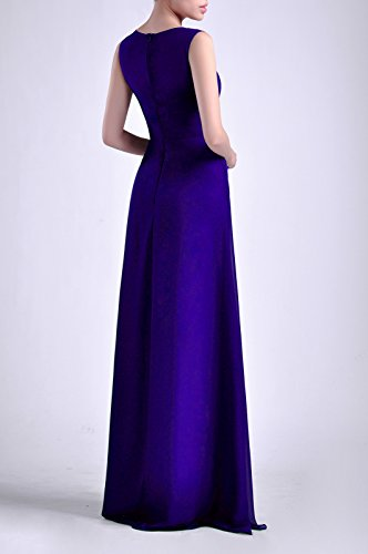 Adorona Dress Lapis Long Sheath Bateau Women's Chiffon Natrual Sleeveless Straps rnUqRBrw8