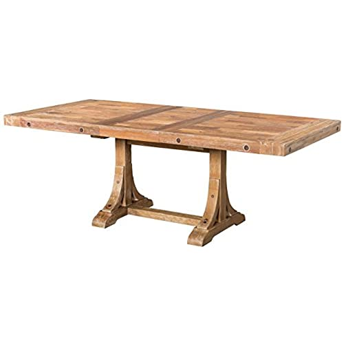 Janes Gallerie Butcher Block White Wash Dining Table