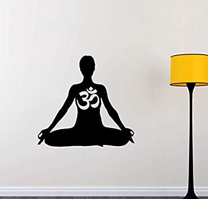 Amazon.com: Wall Stickers Meditation Wall Sticker Om Art ...