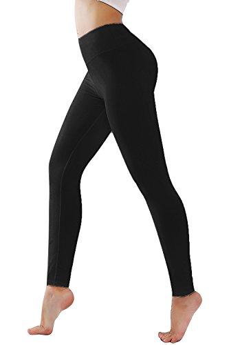 Diamondkit Women's Inner Pocket Non See-Through Leggings … (1037 Black, (Inner Pocket)