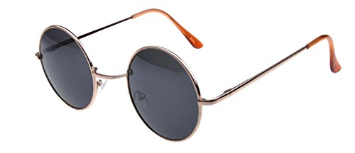 polarisées Hommes métalliques Charmming rondes Cateye Femmes Lens Miroir JYR Cadres Sunglass noire Mode moderne Or yqtHcIYnzw