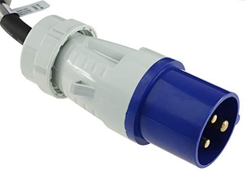 CEE Adapter Kabel 1,5M Kupplung auf Schutzkontakt Stecker IP44 spritzwassergeschützt 230V / 16A 3-polig für Camping…