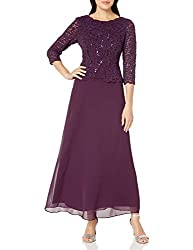 Alex Evenings Women's Long Mock Dress