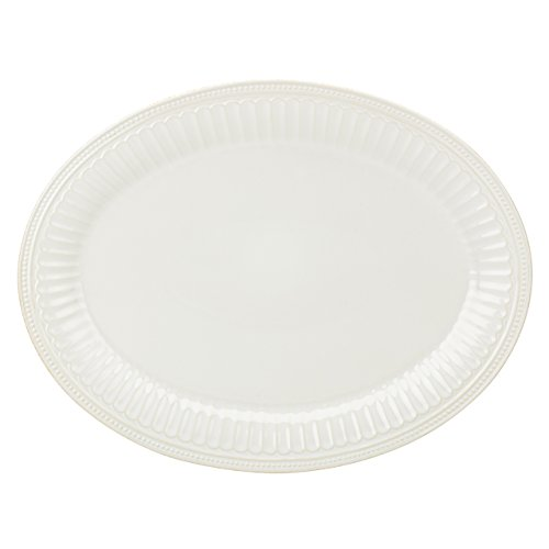 Platter French Oval (Lenox French Perle Groove Oval Platter, White)