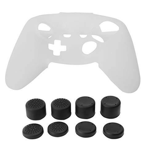 Slicone Skin - Shaoge 8PCS Thumb Grips Slicone Cover Skin Case Durable Protector Accessories for Nintendo Switch Pro Controller