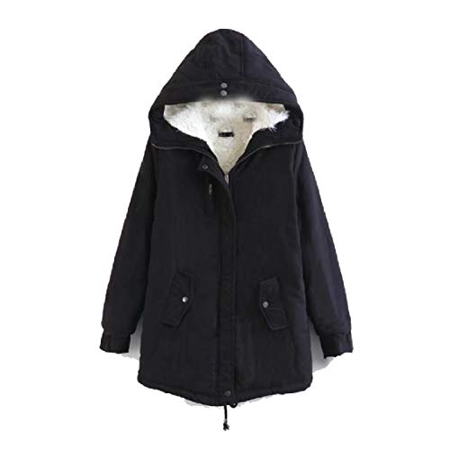 Jacket Fall Velvet Black with Hood Warm Plus Energy Long Down Winter Coat Mid Women's OqXzE4xwT