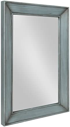 Kate and Laurel Yuda Wooden Rectangle Framed Wall Mirror