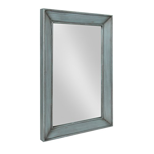 Kate and Laurel Yuda Wooden Rectangle Framed Wall Mirror, 23.5x35, - For Bathroom Chunky Wooden Modern Mirrors