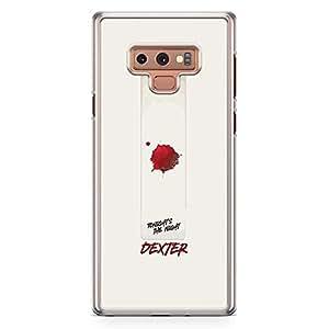 Loud Universe TV Show Dexter Samsung Note 9 Case Quote Tonight Dexter Samsung Note 9 Cover with Transparent Edges