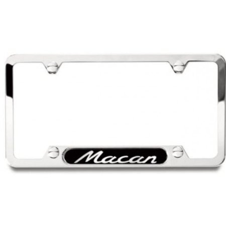 Porsche Macan Brushed Stainless Steel License Plate Frame