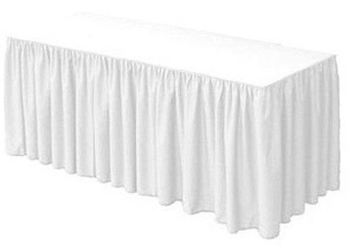 Urby Table Skirt Cover 8' ft Fitted Polyester Tablecloth ...
