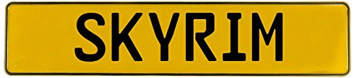 Vintage Parts 549651 Skyrim Yellow Stamped Street Sign Mancave Wall Art