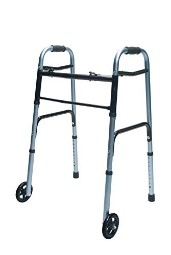 "Lumex ColorSelect Adult Walker with 5"" Wheels, Blue, 716270B-1"